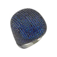 Gemstone 925 Sterling Silver Jewelry Blue Cubic Zirconia Stone Ring