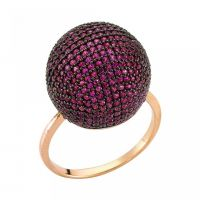 Gemstone Sterling Silver 925 Turkish Ring Rose Gold Plated