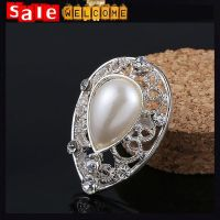 Heart Pearl Rhinestone Brooch Pin Wedding Party Jewelry