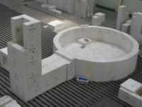 fused cast AZS 33 glass furnace refractory