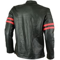 LEATHER MEN FASHION JACKET KMX-0081