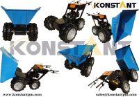 KT-MD300T Blue Four Wheeled Wheelbarrow Mini Dumper 4X4 All Terrain Buggies