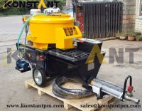 Mortar Plastering Machine with Mixer and Screw Pump