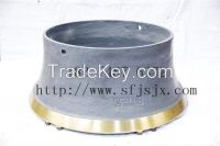 Superior Quality H6800 Bowl Liner Concave Cone Crusher Spare Parts