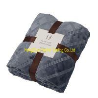 Solid 3D emboss  flannel blanket polyester blanket