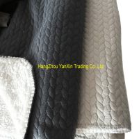 Solid air layer sherpa blanket polyester blanket with overlock