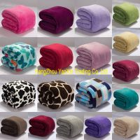 Solid printed flannel blanket polyester blanket