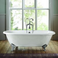 Double Ended Roll Top Cast Iron Bath Tub