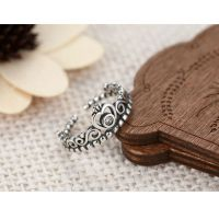 Dormy Story 925 Sterling Silver Classical Retro Fashion Princess Queen Crown Ring  For Gift(Can be Resize)
