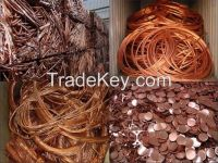99.99% Purity Copper Wire Scrap , Copper Wire Millberry