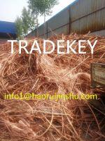 99.99% Purity Copper Wire Scrap , Copper Wire Millberry