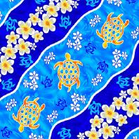 Cotton and Rayon, Batik turtle design