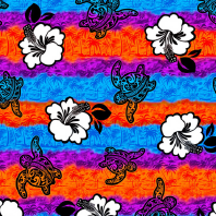 Hibiscus flower design Rayon