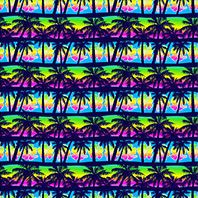 Palm Tree Design Cotton and Rayon