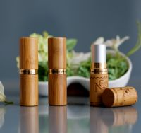 Eco-Friendly Bamboo Carved Lipstick Tubes Cosmetic Packaging