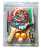 wooden Table tennis set