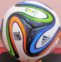 ADIDAS BRAZUCA OFFICIAL MATCH FINAL FIFA WORLD CUP-2014 RIO, BRASIL 6 PANEL SOCCER BALL-SIZE 5