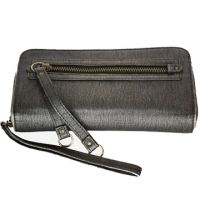 Fashion New Black Zipper PU Ladies Wallet