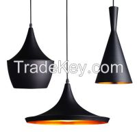 Retro Loft Style Black Aluminum Chandeliers Ceiling Light Fixture