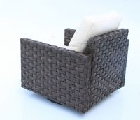 74205 outdoor wicker sofa swivel glider