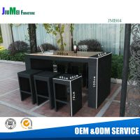 outdoor furniture bar table and chairs (B04)