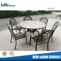 Cast furniture table and chair