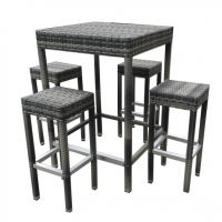 outdoor furniture rattan bar table and bar stool (B21)