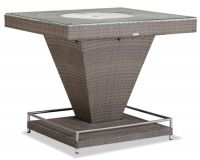 outdoor furniture bar table and stool with ice bucket