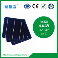 "high efficiency A grade 156mm x156mm 6"" 3BB mono solar cell with competitive price for sale"