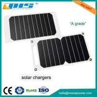 Hotsale 5w 5v usb solar charger for mobile phone