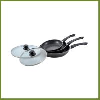 aluminum non stick coating cookware set Wok fry pan saucepot with lid