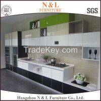 High Gloss Lacquered Kitchen Cabinets