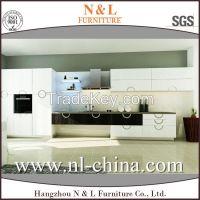 Modern Industrial Style Wood Veneer Kitchen Cupboard