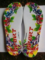 3D or 2D heat transfer film with newly designe for flip flop soles