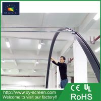 XYSCREEN semi-circular home cinema curved fixed frame projector screen