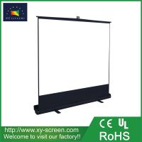 XYSCREEN easy installation commercial display 4:3 motorized floor rising projection screen pull up projector screen