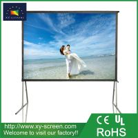 XYSCREEN 150 inch outdoor portable rear projection fast folding projector screen easy move