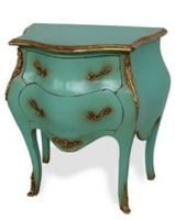 French Hand Painted Commode In Two drawers