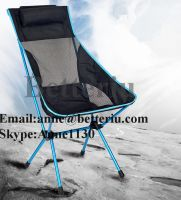 High back camping chair fold up beach chair ultralight camping chair