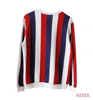 WOMEN'S STRIPE CREW NECK SWEATSHIRT