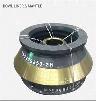 BOWL LINER AND MANTLE FOR CONE CRUSHER ORGYRATORY CRUSHER