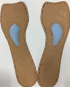leather insole shoe pad