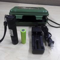 Korea imported SVC rechargeable uv led flashlight