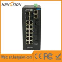 Unmanaged 14*100Base T(X) +4*100Base FX+ 4*1000Base SFP FX Industrial Ethernet Switch