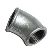 Beaded bend galvanized malleable iron pipe fitting