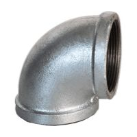 HDG malleable iron pipe fittings 90 elbow
