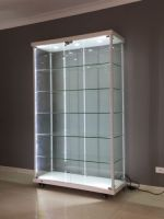 tempered glass display showcase, glass display cabinet
