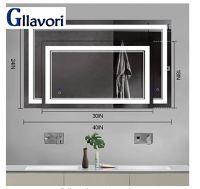 GLLAVORI  LED  bathroom mirror SGCC, CE, ANSI certification of LED mirror make up mirror