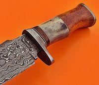 Custom Handmade Damascus Steel 10.00 Inches Knife-Handle Made of Bone and Wood