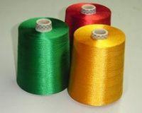 dyed silk yarn